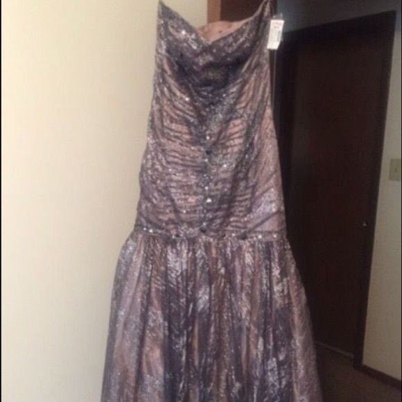 47 Off Dresses Purple Sparkly Prom Dress Poshmark
